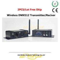 Litewinsune 2 sztuk uwalnia statek bezprzewodowy DMX512 nadajnik odbiornik kontroler do oświetlenia scenicznego 2.4Ghz 126 kanałów 16 grup