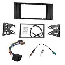 Para BMW serie 5 E39 E53 Radio CD DVD GPS Estéreo Panel doble Din Fascia Dash Mount Kit de Ajuste ISO Cableado + Adaptador de Antena