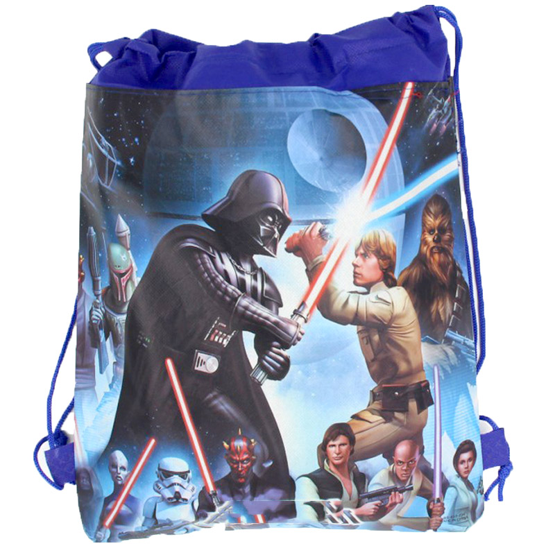 1PCS Happy Birthday Decorate Boys Kids Favors Star Wars Theme Mochila Baby Shower Party Non-woven Fabrics Drawstring Gifts Bags