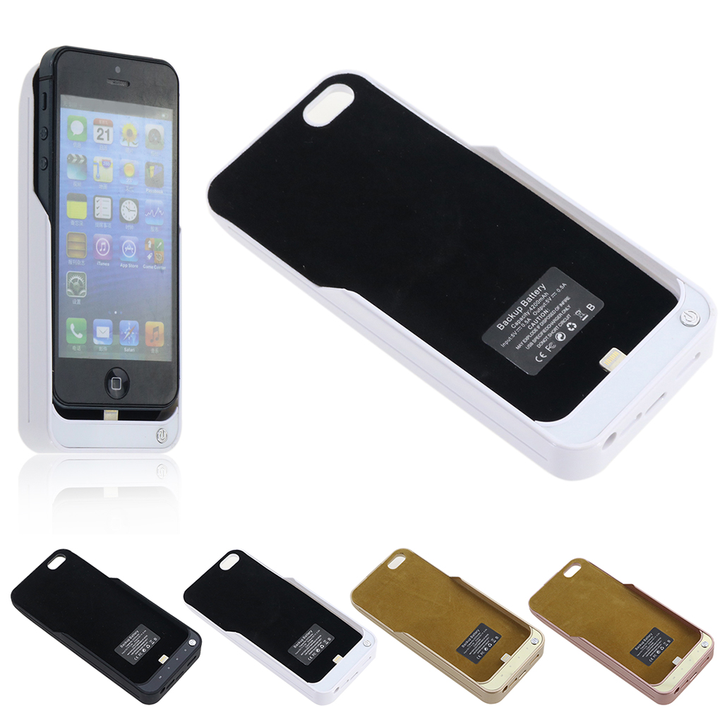 4200mAh Ultra Thin Power Bank External Battery Backup Charger Case Cover For iPhone 5C 5S SE