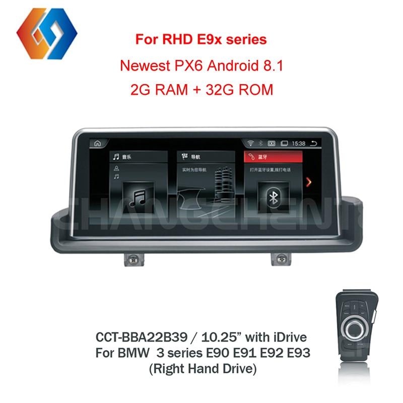 RHD E90 Android 8,1 Px6 для правой руки диск E90 E91 E92 E93 автомобильный мультимидийный навигатор навигации BT Wi-Fi Сенсорный экран Бесплатная iDrive39