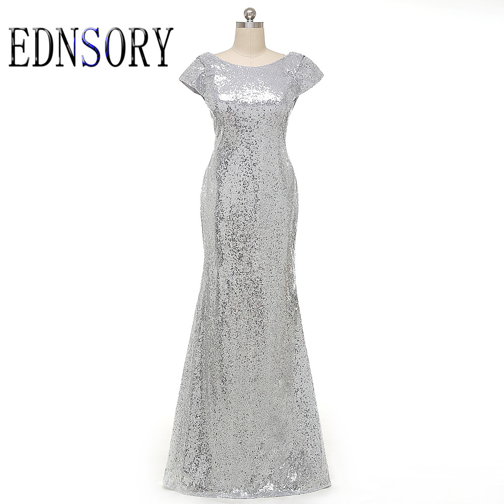 Online get cheap silver long mermaid bridesmaid dresses free shipping mermaid long silver rose gold sequined bridesmaid dresses 2017 short sleeve floor length prom ombrellifo Image collections