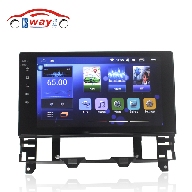 "Bway 10.2"" car radio for Mazda 6 old android 6.0.1 car dvd player with bluetooth,gps navi,SWC,wifi,Mirror link,support DVR"