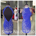 Vestidos De Coctel High Neck Keyhole Back Mini Sheath Robe De Cocktail Beaded Cocktail Dresses 2017 Cheap Summer Party Dress