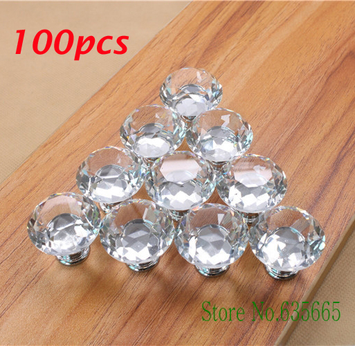 Wholesale 100pcs K9 Crystal Glass Diamond Furniture Handles Hardware Drawer  Wardrobe Kitchen Cabinets Cupboard Door Pull Knobs In Cabinet Pulls From  Home ...