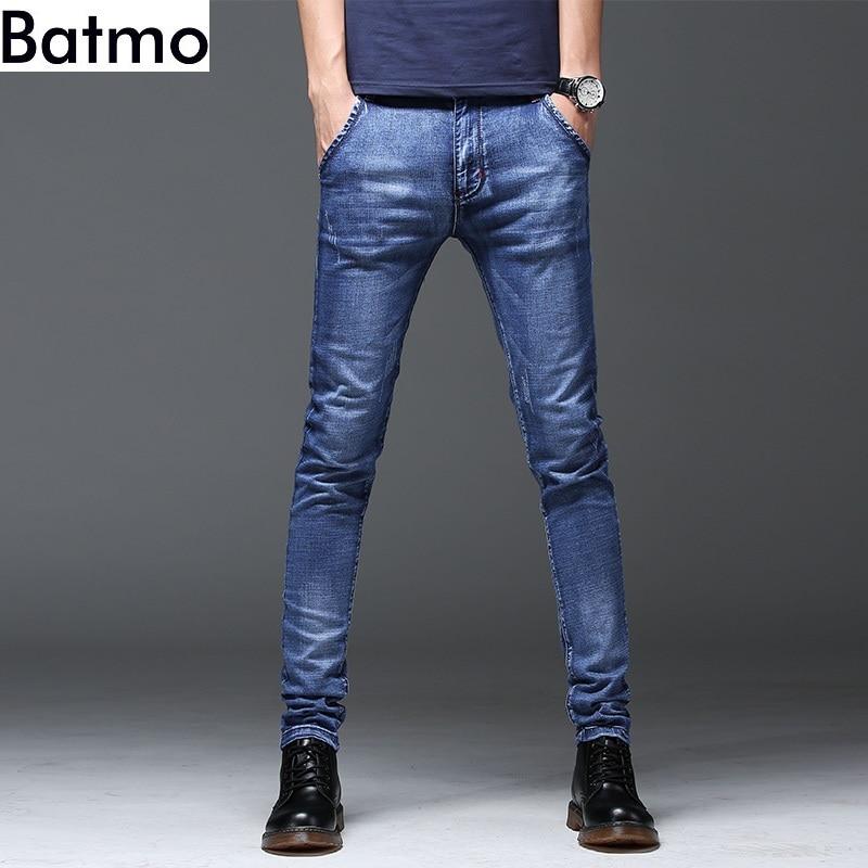 Batmo 2018 new arrival high quality casual slim   jeans   men ,men's pencil pants ,skinny   jeans   men Z004
