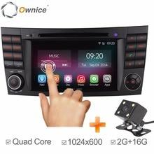 Ownice C200 2G RAM 1024*600 Android 5.1 Quad Core Car GPS Navigation For Mercedes W211 E Class E280 W463 W219 DVD Radio Headunit