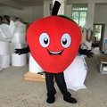 Carnival Costume Little Read  Apple Mascot Costume Adult Size Free Shipping