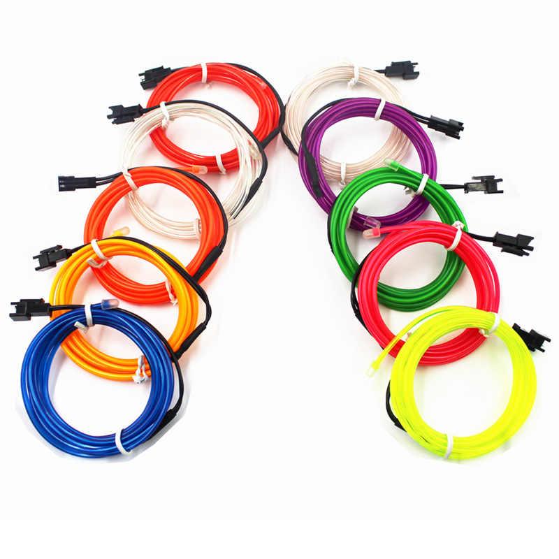 EL Wire 2,3 мм, 10 цветов, 50 м, 100 м, 200 м, трос, трубчатый кабель, сделай сам, Светодиодная лента, светильник, гибкий неоновый свет, вечерние украшения, танцевальные мероприятия