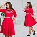 5xl 6xl tamanho grande verão 2017 dress tamanho grande impresso dress verde azul vermelho vestidos plus size roupas femininas com cinto vestidos