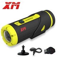 XM H.265 1080 P HD Водонепроницаемый Спорт действий Камера 16 ГБ SD карты 3400amh Батарея Wi Fi видео DV G датчик Камера с 3 Интимные аксессуары