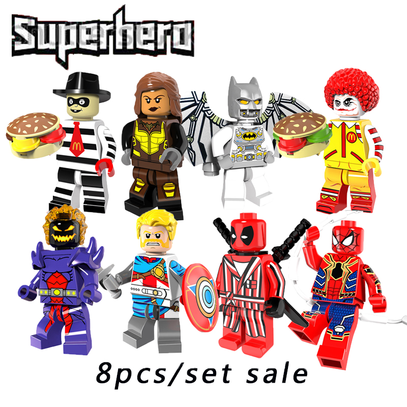 Building Block Compatible Legoinglys The Avengers Superheroes Starwars X-Men deadpool batman Action Figures Toys For Children ...