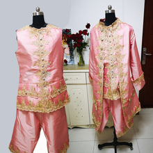 D-329 pink Victorian /Civil War  mens period costume Medieval Renaissance stage performance/Prince charming William