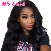 MS Lula Pre plucked 360 Lace Frontal Brazilian Body Wave Wig Remy Human Hair 180% Density Natural Hairline with Baby Hair