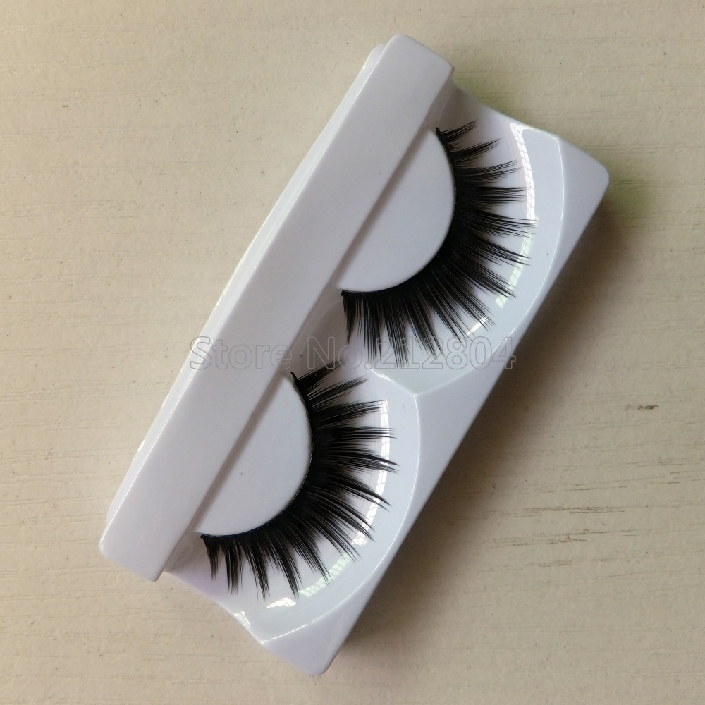 1 Pairs Of Women Ladies Makeup Thick False Eyelashes Eye Lashes Long Black Natural Handmade Makeup Beauty Tools