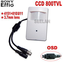 OSD Sony CCD 4151+810/811 800TVL Security Indoor CCTV OSD Mini PIR Style Surveillance Camera pir mini camera pir mini camera ccd