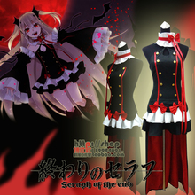 Anime Seraph of the End the Queen of Vampire Krul Tepes Cosplay Costume Black Uniform Dress Girls Comic Con Party Cosplay все цены