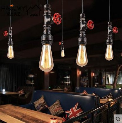 60W Retro Loft Style Vintage Industrial Lighting Edison Pendant Light Lamp for Home Indoor Lighting In Water Pipe Design цена