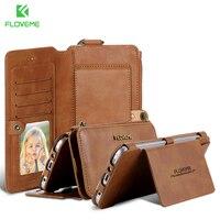 FLOVEME Dla Samsung S6 Krawędzi Plus S7 Retro Skórzany Portfel Bag Sprawach do Samsung Galaxy S6 S7 Skrzynki Pokrywa Gniazda Karty Telefon Shell Bag