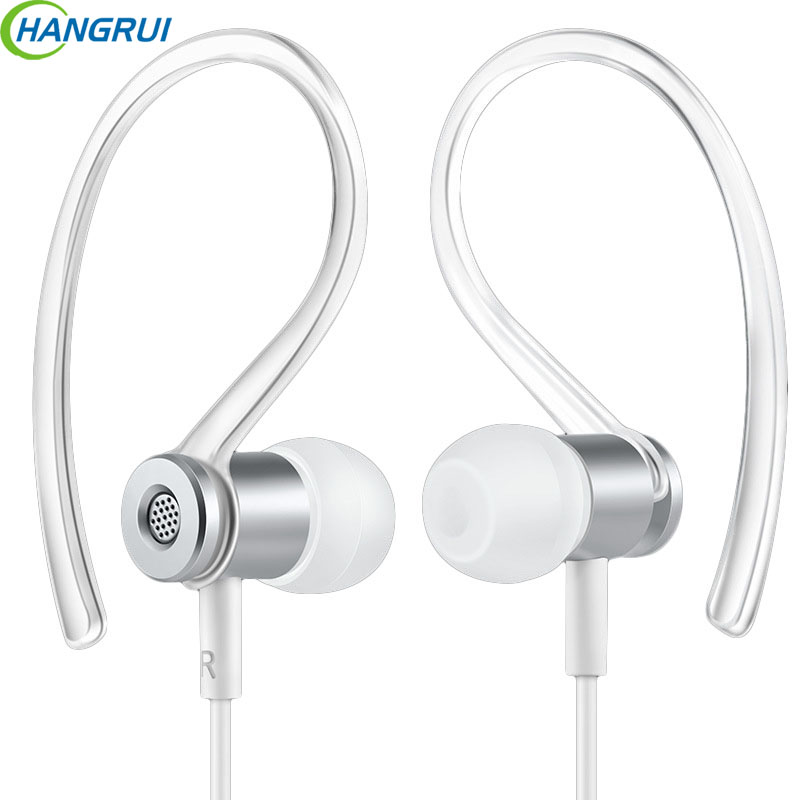 Hangrui In Ear Earphone Hifi Headset TYPE-C Sports Earphones Metal Headsets With Mic For Xiaomi  For Iphone X Wearable Devices hangrui xba 6in1 1dd 2ba earphone hybrid 3 drive unit in ear headset diy dj hifi earphones with mmcx interface earbud for phones
