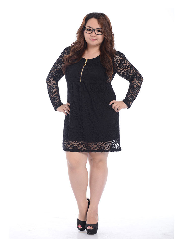 Black lace cocktail dress xl large