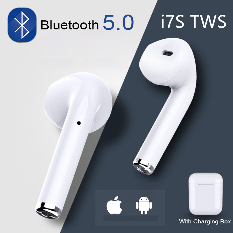 I7s Tws Bluetooth Earphones Air Wireless Earbuds Sport Handsfree Earphone Headset With Charging Box For IPhone X 7 Xiaomi Phone(China)