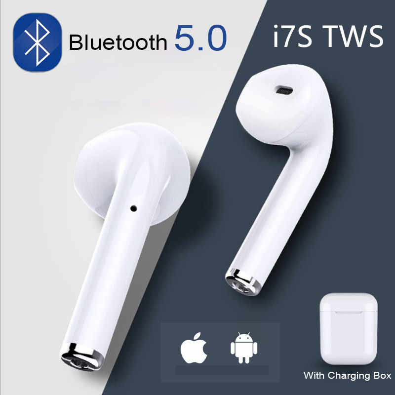 i7s Tws Bluetooth Earphones Air Wireless Earbuds Sport Handsfree Earphone Headset with Charging Box for iPhone X 7 xiaomi Phone