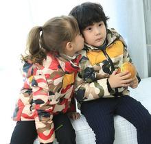 Hooded detachable children jacket camouflage jacket coat baby boy
