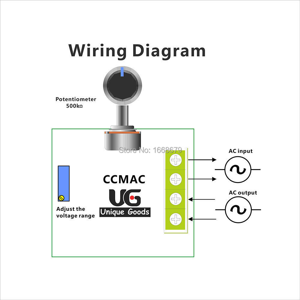 Ac 220v 2000w 25a Scr Constant Voltage Regulator Step Down Transformer Wiring Diagram Converter Motor Speed Controller In From Home Improvement