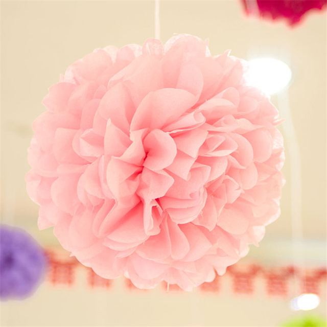 5pcslot 37cm Handmade Hanging Fake Ball Flower Tissue Garland Rice