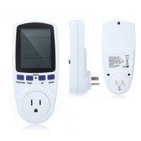 ABD plug Dijital Volt Gerilim Wattmetre Güç Analizörü Elektronik Güç Enerji Ölçer Otomatik Kwh Güç Anahtarı