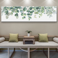 Wall Art Print Canvas Painting Fresh Green Big Leaves Nordic Posters And Prints Tropical Plants Wall Pictures For Living Room