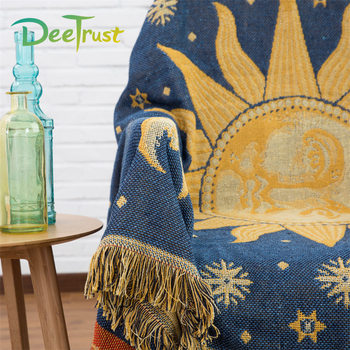 Classic Bohemian Travel Tassel Cotton Blanket For Beds Sofa Throws On Plane Cover Home Decorative Double Sides Cobertor