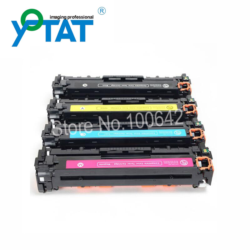 Compatible toner cartridge CF380A CF381A CF382A CF383A for HP Color LaserJet Pro M476dn M476dw M476nw тушь для ресниц make up factory make up factory ma120lwhdr16