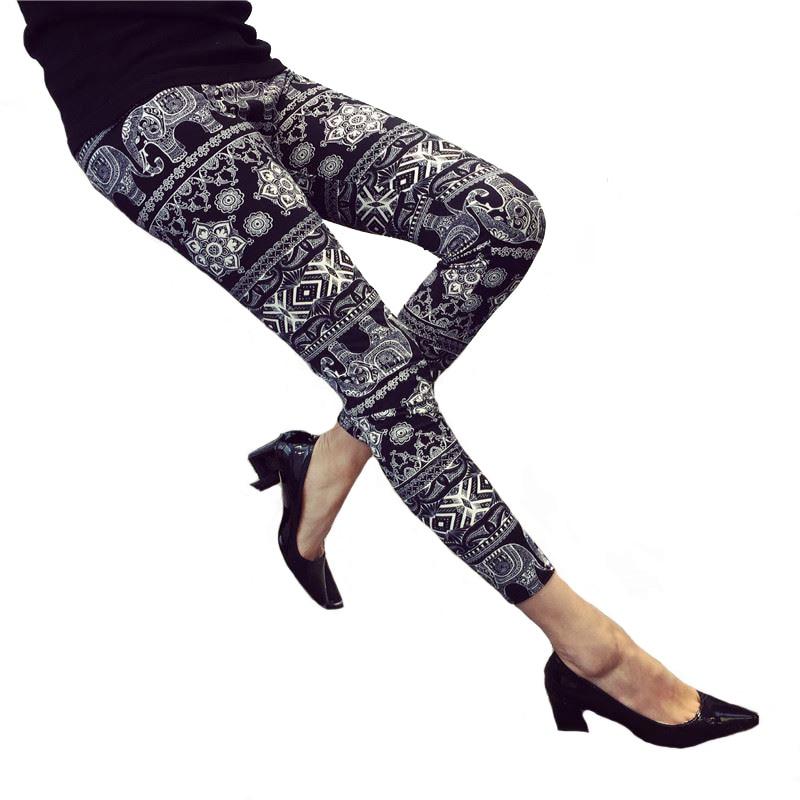 Grid Floral Stripe Leggings 8