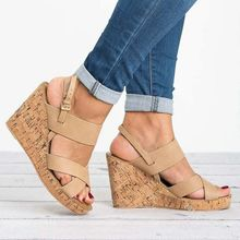 Dwayne Sandals Women Wedges Shoes Pumps High Heels Summer 2019 Flat With Heel Bottom Ladies