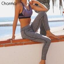 Charmo Women Yoga Pants Women Slim High Waist Sports Pants Gym Fitness Elastic Trousers Running Biking Sport Wear Women Legging цена в Москве и Питере