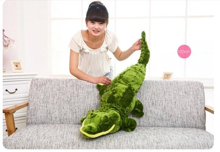 Peluche environ 120 cm simulation crocodile en peluche poupée w3239