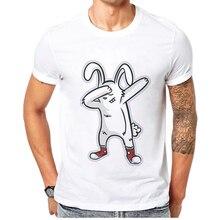 2019 Summers Mens Tshirt Cotton Short Sleeve Men T-Shirt Funny Fashion Tees Cartoon Rabbit Print Man Tshirts Camisetas Masculina цены