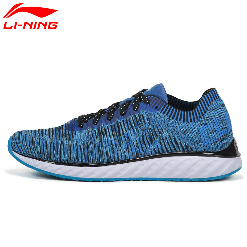 Li-Ning Men's LN CLOUD IV Professional Running Shoes Cushion Breathable LiNing Sneakers Reflective Sports Shoes ARHM025 XYP548 li ning original men sonic v turner player edition basketball shoes li ning cloud cushion sneakers tpu sports shoes abam099