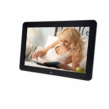 12 inch high resolution wide screen electronic album digital photo frame support SD and USB drive play picture and video