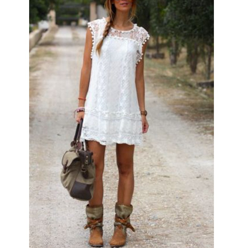 white,short,dress