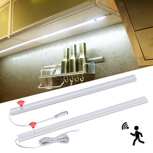 Foxanon PIR Motion Sensor LED Cabinet Light DIY 12V LED Bar Light 30cm 40cm 50 cm Night Light for Wardrobe Closet Stairs Bedroom