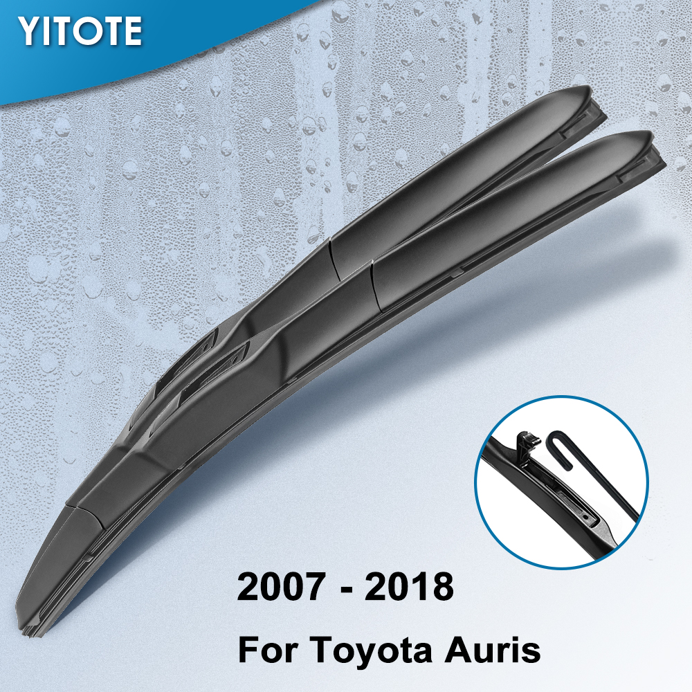 YITOTE Windscreen Hybrid Wiper Blades For Toyota Auris Europe Model Fit Hook Arms Model Year From 2007 To 2018