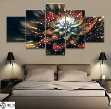 Home Decor Modular Canvas Picture 5 Piece Natural Colourful Flowers Art Painting Poster Wall For Home Canvas Painting Wholesale canvas painting poster colourful leaf trees 4 piece painting wall art modular pictures for home decor wall art picture painting