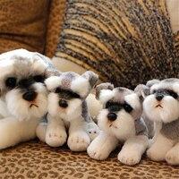 Fancytrader واقعية محاكاة أفطس الراعي كلاب الدرواس التبتية اللعب زخرفة دمية للأطفال
