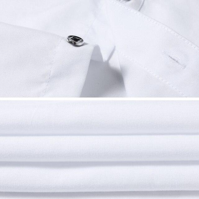 2019 New Fashion Casual Shirt Men Long Sleeve Slim Fit Men's Casual Button-Down Shirt Formal Dress Shirts Men Clothes Camisa 3