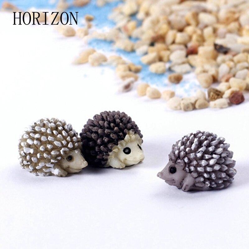 5pcs 1.5cm Hedgehog Fairy Garden Miniatures Micro Landscape Bonsai Plant Garden Decor DIY Craft Ornament Decoration Accessories
