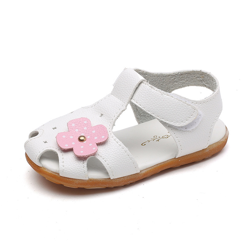 children summer shoes Artificial leather white kids girl sandals Pink children sandals for boy flat shoes girl childrens shoes