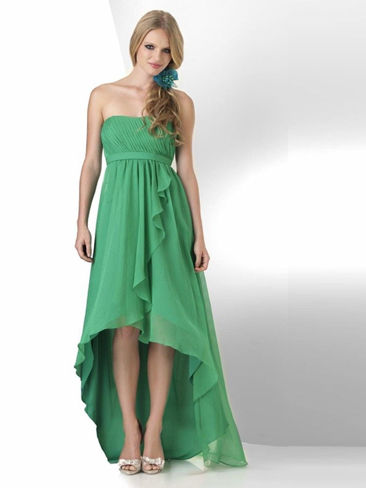 Green Ruffle Bridesmaid Dress